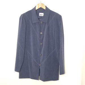 Leslie Fay   Button Front Long Dress Jacket 12